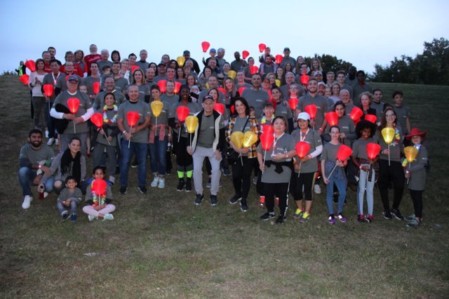 Elbit Systems of America Employees during Light the Night